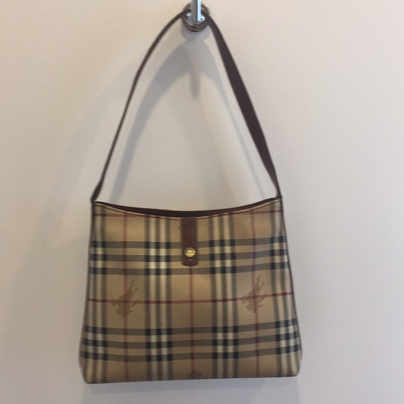 Authentic Vintage Burberry canvas and leather bag
